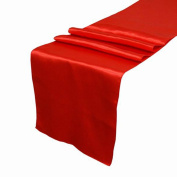 OurWarm Red Satin Table Runner 30.5cm x 274.3cm (Inch) Wedding Party Table Decoration