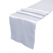 OurWarm Silver Satin Table Runner 30.5cm x 274.3cm (Inch) Wedding Party Table Decoration