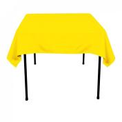 137.2cm . Square Polyester Tablecloth Lemon