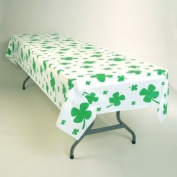 Shamrocks Plastic Banquet Tablecloth 137.2cm x 274.3cm