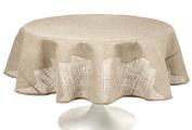 Couleur Nature Burlap Natural Tablecloth, 228.6cm