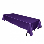 152.4cm x 320cm . Rectangular Satin Tablecloth Purple