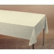 Ivory 2-Ply Paper/Poly Tablecloth 137.2cm x 274.3cm 6 Per Pack