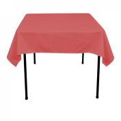 137.2cm . Square Polyester Tablecloth Dusty Rose