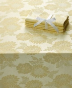 Homewear Sam Hedaya Dinner Party Medley Yellow Tablecloth 60 X 104