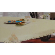 Sam Hedaya Homewear, Dinner Party Medley Sage Tablecloth 52 X 70 Oblong