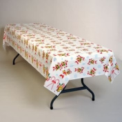 Candy Canes Plastic Tablecloth 137.2cm x 274.3cm