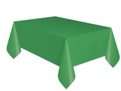 Emerald Green Plastic Table Cover 54'' x 108'' Rectangle