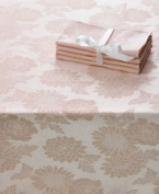 Sam Hedaya Homewear, Dinner Party Medley Pink Tablecloth 52x 70 Oblong