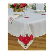 Homewear Table Linens, Poinsettia Trio 177.8cm Round Tablecloth