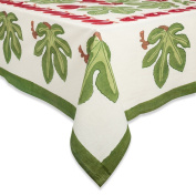 Couleur Nature Fig Red/Green Tablecloth 59x59