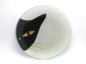 Cat Eyes Glass Plate Silver