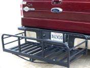 Premium USA Auto Truck SUV Hitch and Ride Black Cargo Carrier Rack Large Magnum