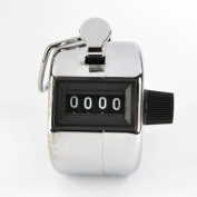 Bluecell Metallic Handheld Tally Counter 4 Digit Display for Lap/Sport/Coach/School/Event