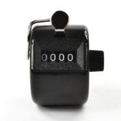 Bluecell Black Colour Handheld Tally Counter 4 Digit Display for Lap/Sport/Coach/School/Event