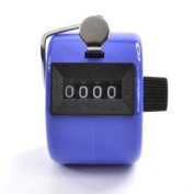 Bluecell Blue Colour Handheld Tally Counter 4 Digit Display for Lap/Sport/Coach/School/Event