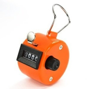 Bluecell Orange Colour Handheld Tally Counter 4 Digit Display for Lap/sport/coach/school/event
