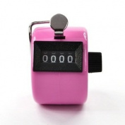 Bluecell Pink Colour Handheld Tally Counter 4 Digit Display for Lap/Sport/Coach/School/Event