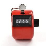 Bluecell Red Colour Handheld Tally Counter 4 Digit Display for Lap/sport/coach/school/event