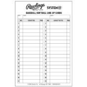 Rawlings System 17 Baseball/Softball Lineup Cards