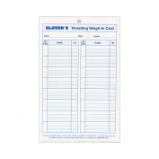 Glovers Scorebooks Wrestling Weigh-in Cards, Large