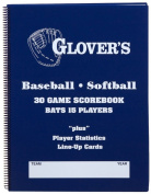 Glovers Scorebooks 9 to 15 Player Baseball/Softball Scorebook