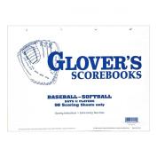 Glovers Scorebooks Baseball/Softball 50 Scoring Sheets