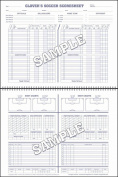 Glovers Scorebooks Soccer Short Form Scorebook
