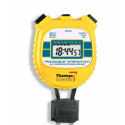 Thomas 1042 Traceable ABS Plastic Shockproof and Waterproof Stopwatch with LCD Display, 0.01 percent Accuracy, 2-1cm Length x 2-0.3cm Width x 1.3cm Thick