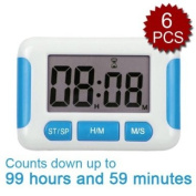 (Price/6 Pcs)Pretime Digital Timer, 99 Hours 59 Minutes Countdown