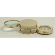 Paper Weight w/ Compass & Magnifier, Gold Plated, D621