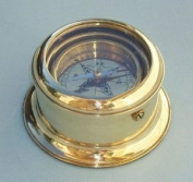 Round Gimbaled Brass Desk Compass