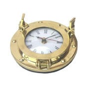 REAL SIMPLE...A HANDTOOLED HANDCRAFTED BRASS PORTHOLE CLOCK!