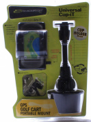 Bracketron RWA-202-BL Golf Cart Cup Holder Mount with Grip-iT for GPS