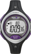 Timex T5K723F5 Women's Ironman Road Trainer Heart Rate Monitor with Resin Strap Watch, Black/Silver Tone/Purple, Mid-Size