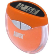 Daffodil HPC907O Multi-function Pedometer - Step Counter that uses Personal Weight and Stride Length to Calculate Calories Burnt - With Digital Clock - Orange