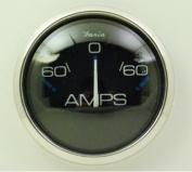 Faria Chesapeake Black SS Ammeter 60-0-60