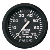 Faria Euro Black 10cm Tachometer w/Systemcheck Indicator - 7,000 RPM