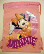 Disney Minnie Mouse Pink Drawstring Backpack