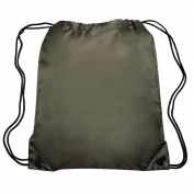 Nylon Sports Drawstring Backpack Bag Durable, Lightweight, Army Green