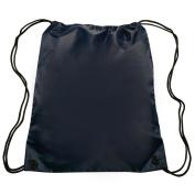 Nylon Sports Drawstring Backpack Bag Durable, Lightweight, Navy Blue