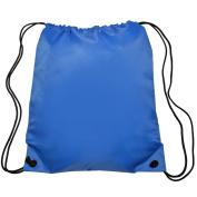 Nylon Sports Drawstring Backpack Bag Durable, Lightweight, Royal Blue