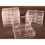 Lot of 8 Crystal Clear Hinged Plastic Trading Card Storage Boxes (35-ct) - Made in the U.S.A.