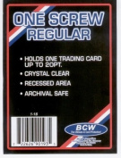 BCW 1 Screw Card Holder - 20 Pt. (Box of 50) - Screwdown - Baseball, Football, Basketball, Hockey, Golf, Single Sports Cards Top Load - Sportcards Card Collecting Supplies
