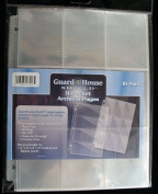 9 Pocket Trading / Sports / Baseball Card Pages PACK of 10 GuardHouse Shield