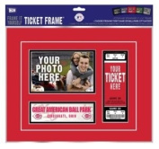 "Cincinnati Reds First Game Ticket Frame ""Frame It Yourself"""