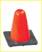 Champion Sports 15.2cm Hi-Visibility Orange Flexible Vinyl Cone