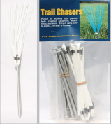 Track & Field Markers White 15.2cm Package of 10 -Marking Flags, Landscape Markers, Garden Markers, Athletic Field Markers, Survey Markers, Survey Whiskers, Stake Flags, Marking Whiskers, Garden Flags, Nursery Flags