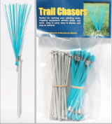 Trail Chasers Blue 15.2cm Package of 25 Whisker Garden Marker, Survey Marker, Landscaping
