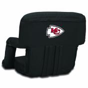 NFL Kansas City Chiefs Portable Ventura Reclining Seat, Black